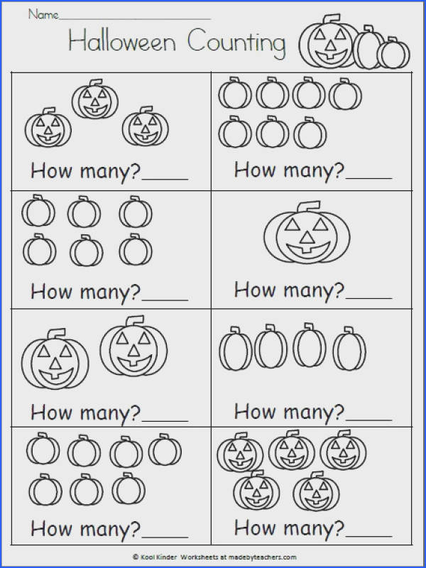 Halloween Math Worksheet How Many