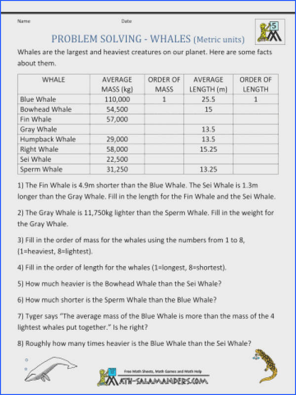 5th Grade Math Measurement Worksheets Word Problems Fractions Printable Sheets Whales M Multiplication Pdf mon Core