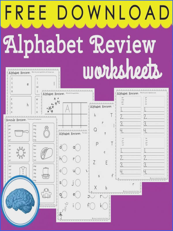 6 pages of Alphabet Review Worksheets Great for Kindergarten & First Grade phonics