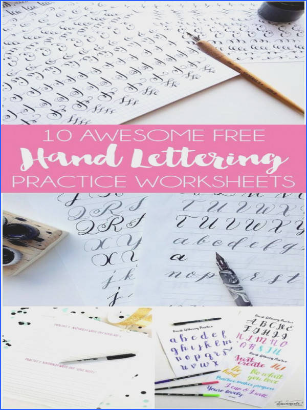 6 Resources for Free Lettering Worksheets