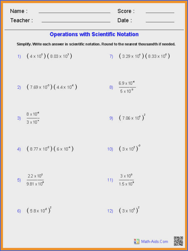 Free Worksheets Liry   Download and Print Worksheets   Free on together with Operations with Scientific Notation also  furthermore Operations with Scientific Notation Worksheet  pdf  and Answer Key as well Scientific Notation Worksheets   Mychaume furthermore Alge 1 Worksheets   Exponents Worksheets moreover Unit 12 Metric and Scientific Notation Worksheets moreover Multiplying and Dividing in Scientific Notation   ppt download in addition Scientific Notation further scientific notation a   worksheet further Scientific Notation Worksheets as well Scientific Notation Worksheets in addition  as well Converting Ordinary Numbers to Scientific Notation  A also Scientific Notation Worksheet Chemistry   Mychaume also . on operations with scientific notation worksheet