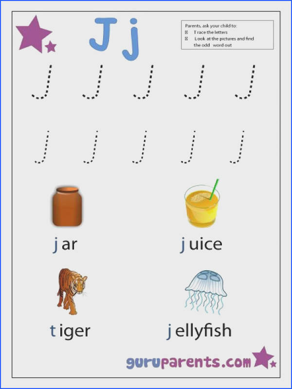 Image detail for Preschool Letter Worksheet Letter J