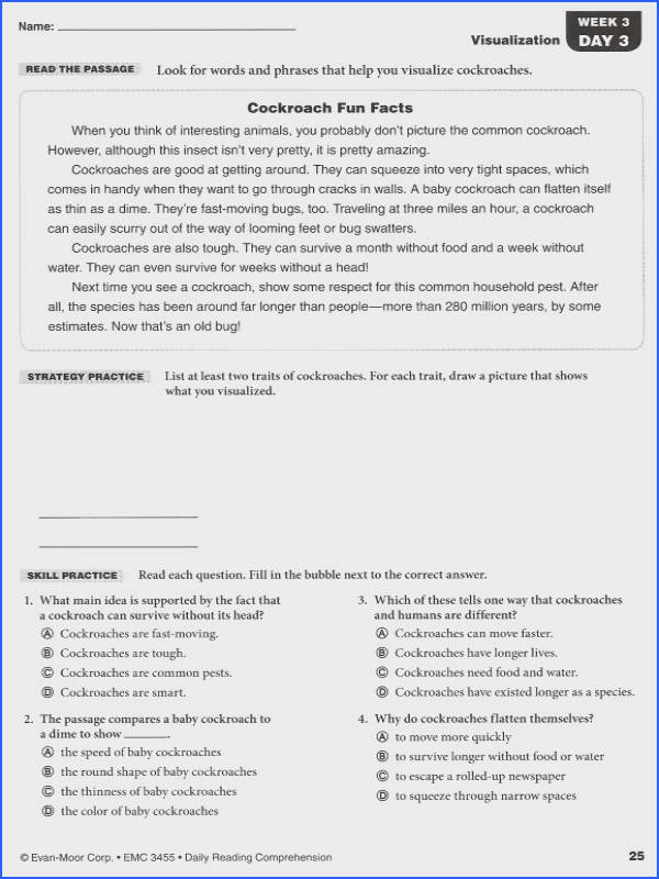 Useful 6th Grade Reading prehension Practice Test About Daily Reading Prehension Grade 5 Details Rainbow
