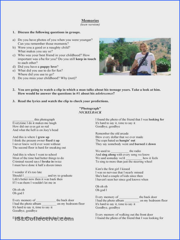 Nickelback graph Phrasal Verbs worksheet Free ESL printable worksheets made by teachers