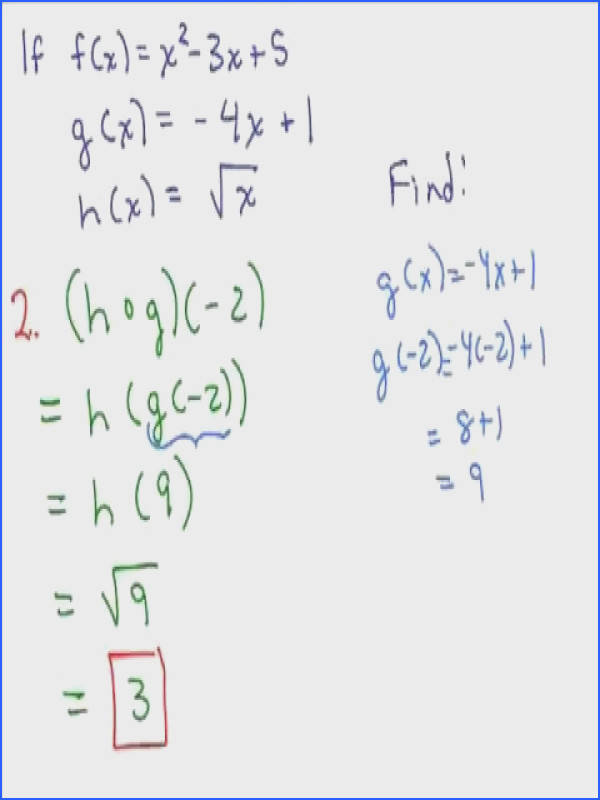 2 8 Julie Harland evaluates the position of functions at a number and also at x