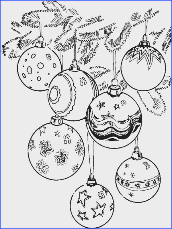 7 Christmas Ornaments free printable Christmas coloring pages for adults