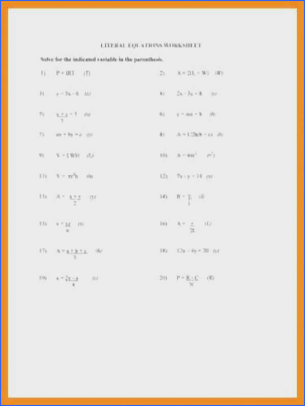 literal equation worksheet teral equations worksheet solve for the indicated qualityu003d80