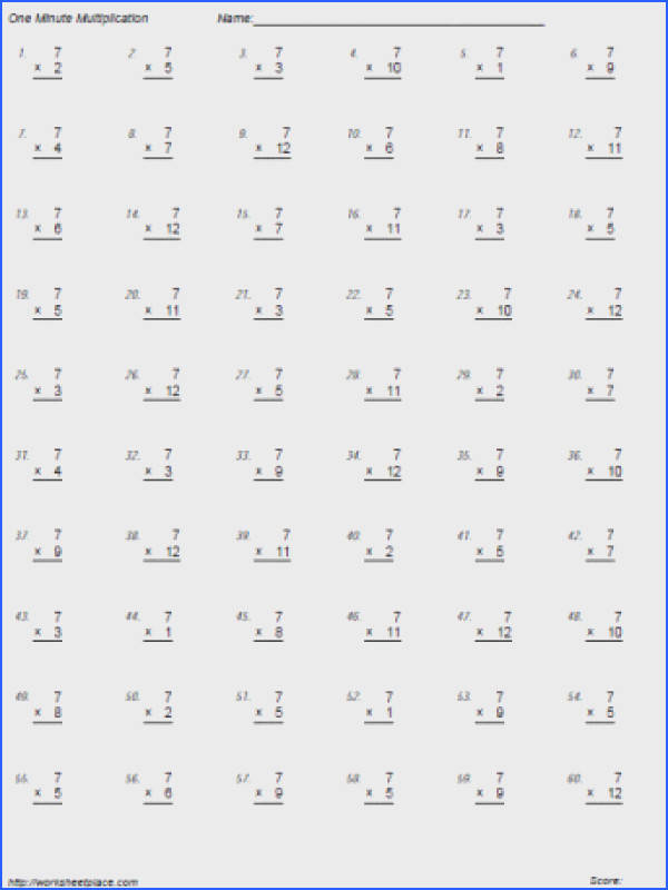 7 Times Tables
