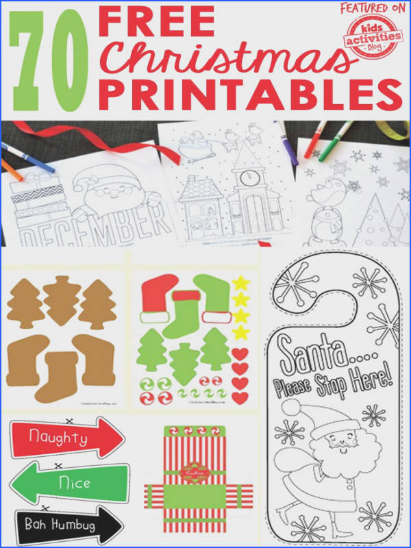 We found 70 FREE Christmas Printables and we re sharing them with you here Christmas Worksheets