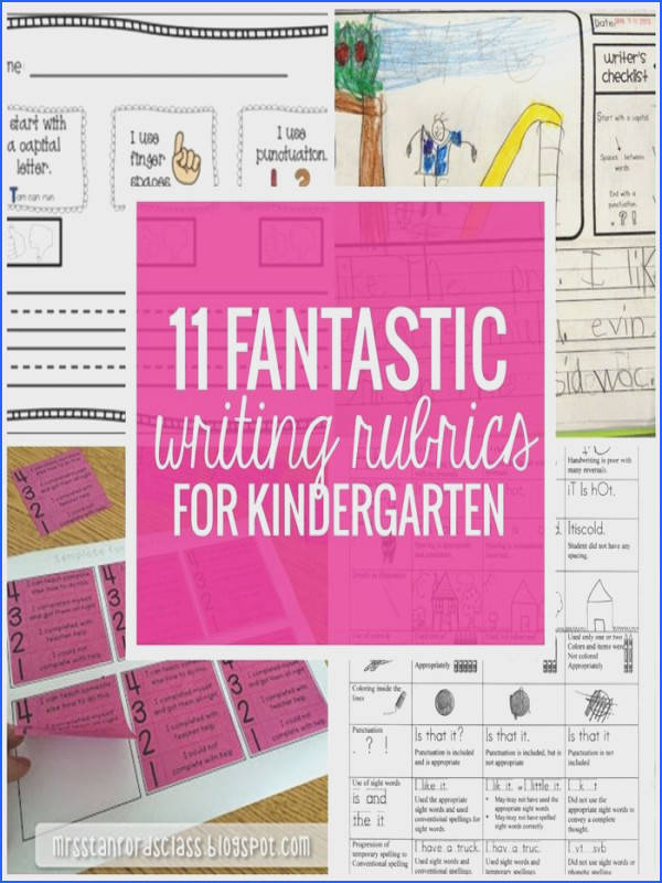 11 Fantastic Writing Rubrics for Kindergarten