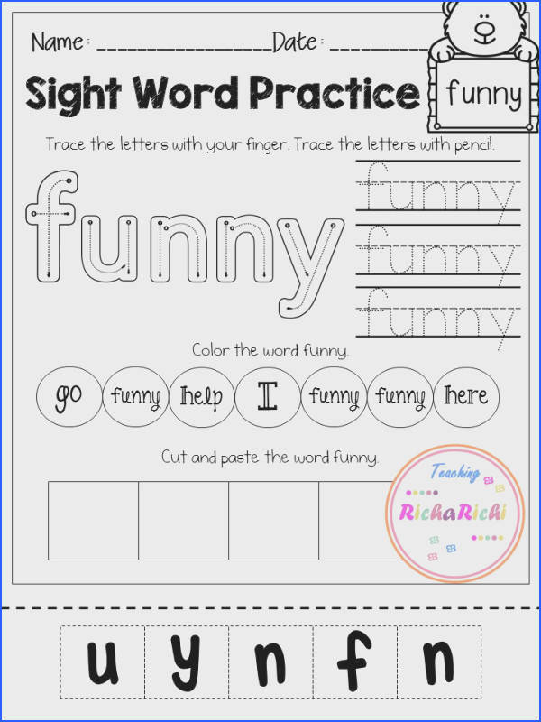FREE sight word activities pages for pre primer Inside you will find 40 pages of Kindergarten