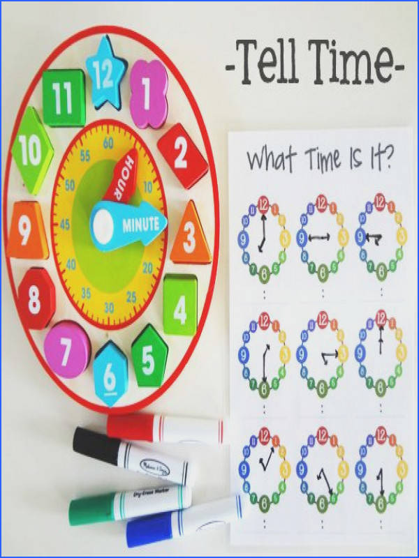 learn to tell time printable