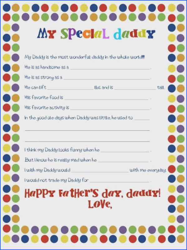 Father s Day Worksheet