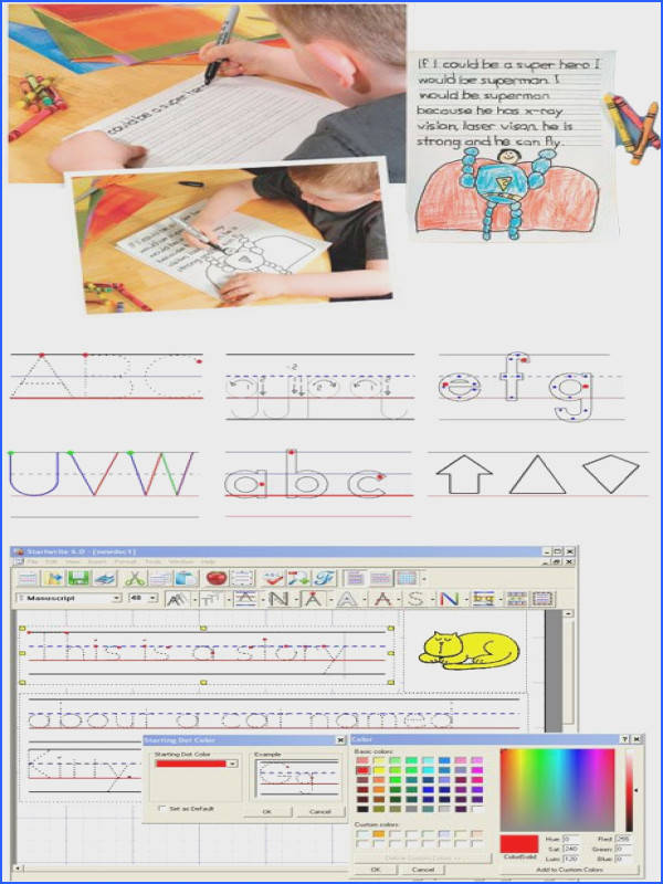 Create customized handwriting practice sheets