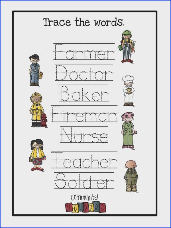 8 Best Learning Images On Pinterest Image Below Community Helpers Worksheets