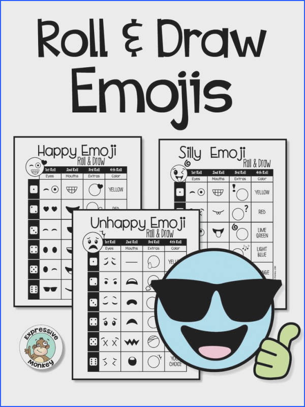 Emoji Drawing & I Statement Writing students will have a blast designing their own emojis