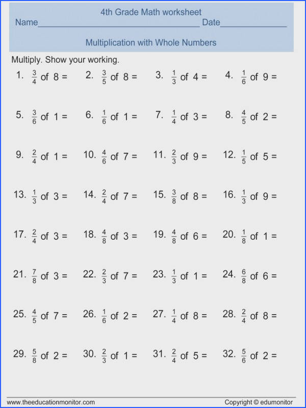 Free Math Worksheets For Fourth And Fifth Graders
