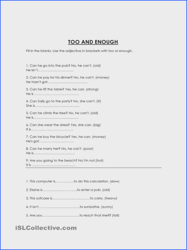 Pound Sentences Worksheet Mychaume. Too Adjective Not Enough Worksheet Free Esl Printable Worksheets Made By Teachers. Worksheet. Worksheets For Inverted Mas At Mspartners.co