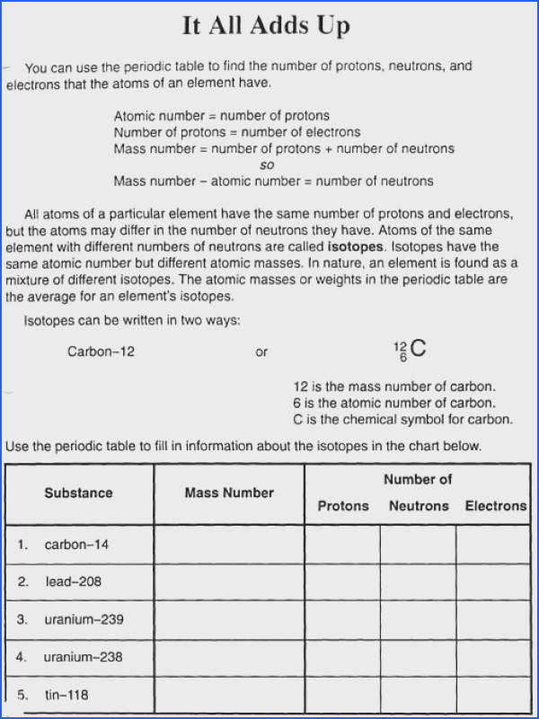 Sample atomic structure worksheet 7 documents in word pdf