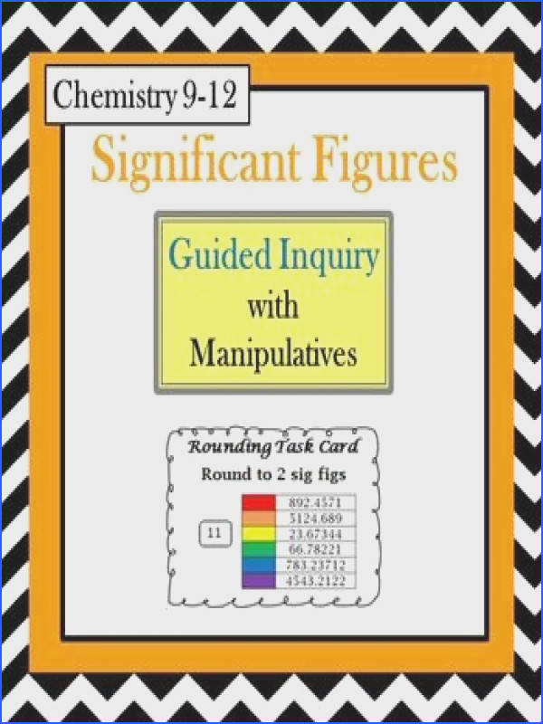 Chemistry Significant Figures Guided Inquiry Lesson Counting & Rounding