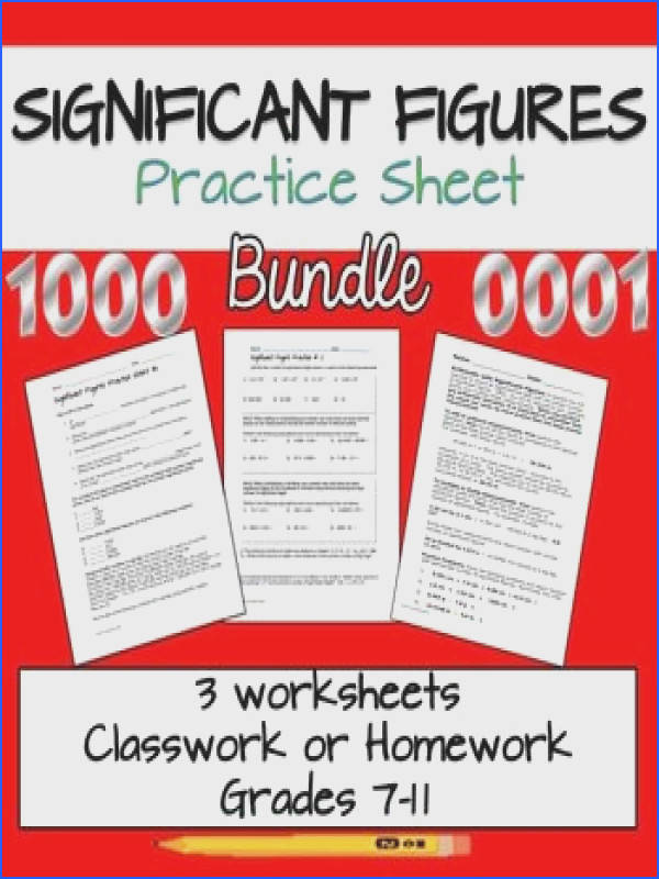 Significant Figures Worksheet Bundle