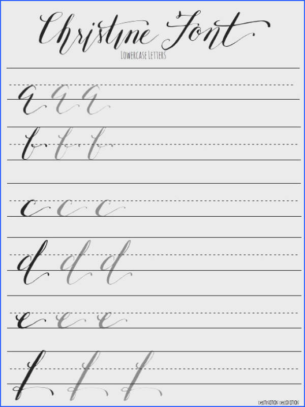 98 Best Caligraf­a Lettering Images On Pinterest Image Below Calligraphy for Beginners Worksheets