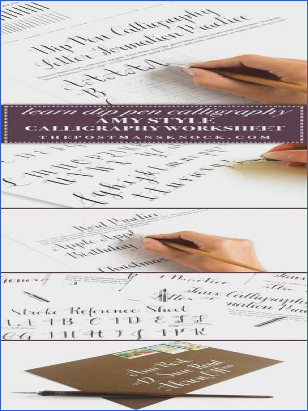 Introducing the Amy Style Learn Calligraphy for a Latté Worksheet Set Video Course