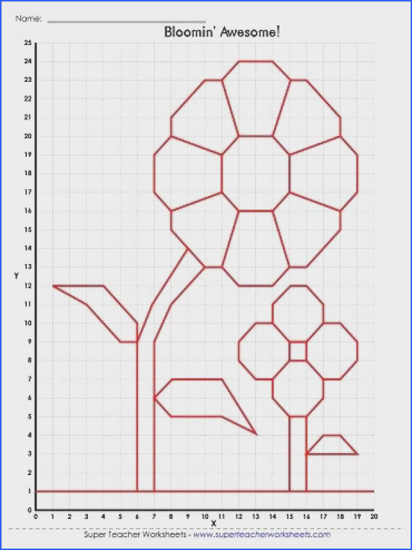A great mystery picture graph for spring Teacher WorksheetsFlower