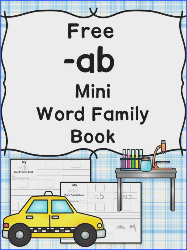 AB CVC Word Family Worksheets AB Word Family Minibook
