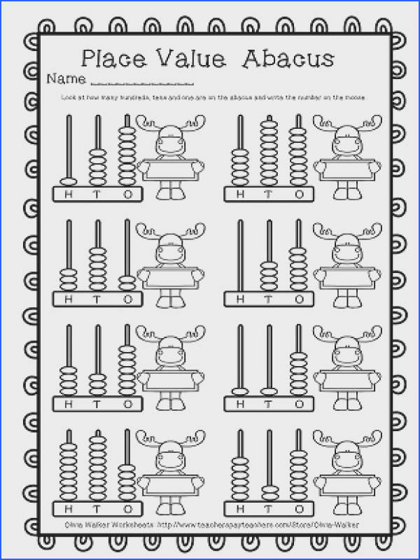 Abacus Place Value Hundreds Tens and es Worksheets Printables