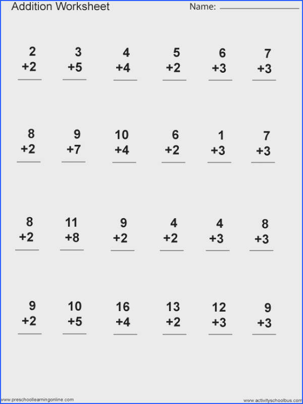 Addition 1st Grade Printable Image Below Printable Math Worksheets for 1st Grade