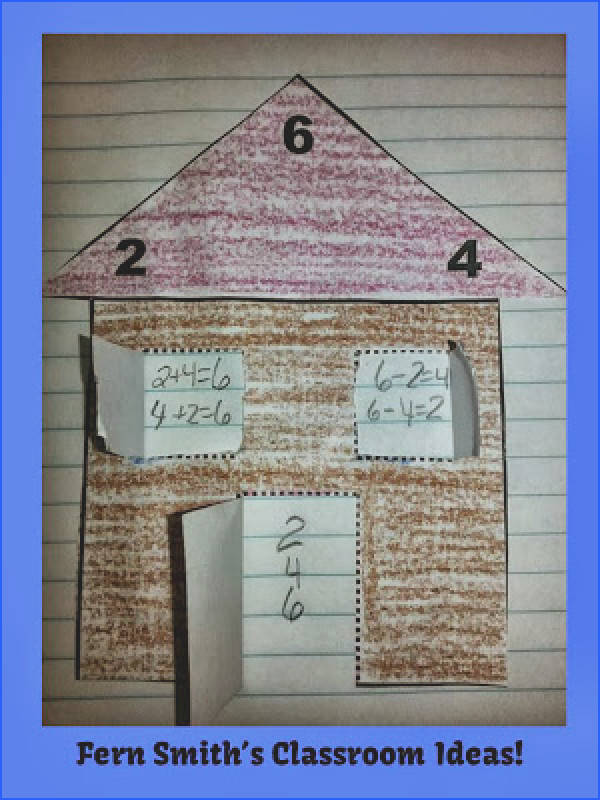Addition & Subtraction Fact Families Center Game & Interactive Notebook Activity Teacher