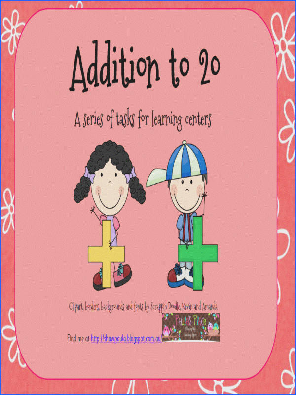 Addition to 20 includes Subitising Cards – Ten Frames 17 pages Counting