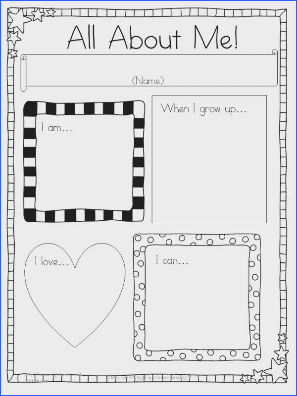 All About Me Writing Prompts for Kindergarten or First Grade