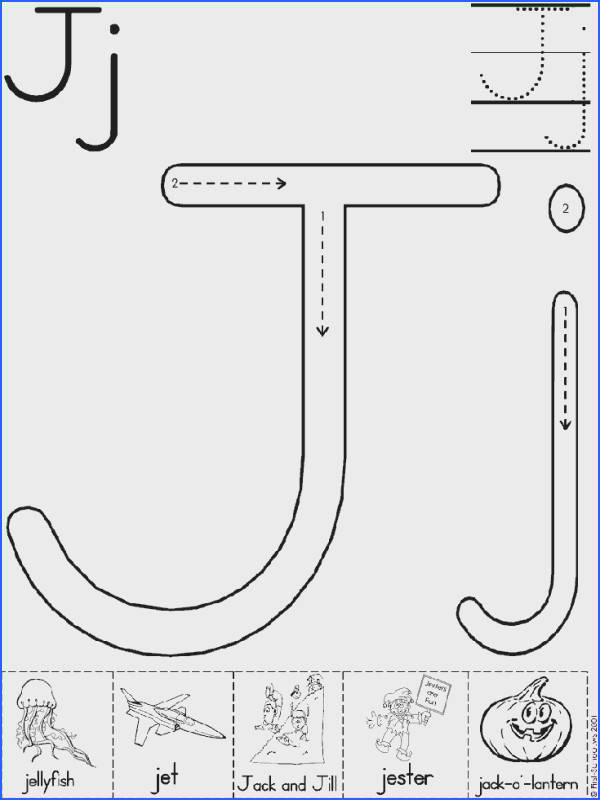 Alphabet Letter J Worksheet Preschool Printable Activity