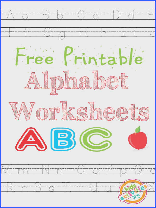 Free Printable Alphabet Worksheets Printable Preschool