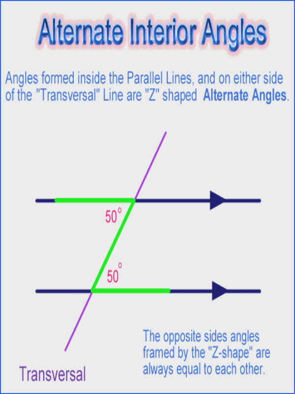 Parallel Lines Alternate Angles