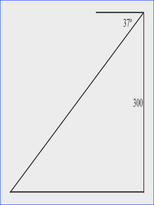 Since you know the angle of depression is you can use this information along with the height of the hill to create a trigonometric relationship