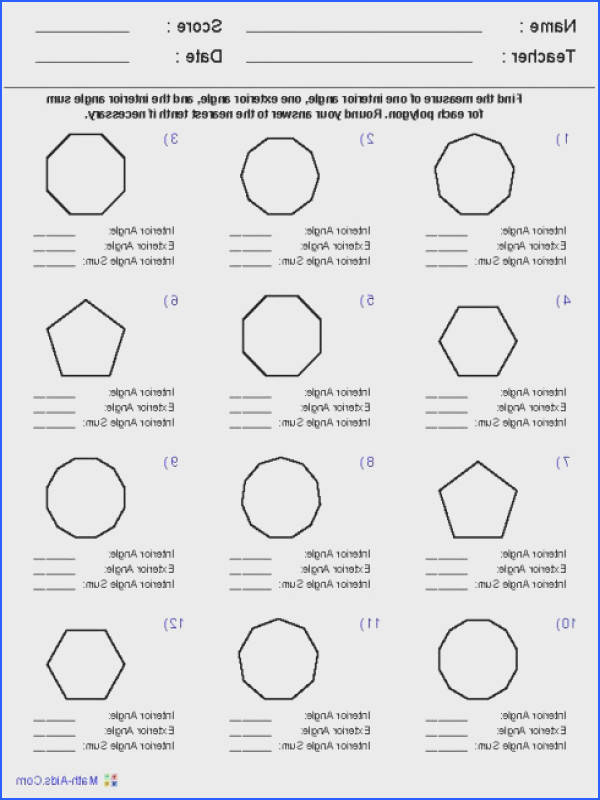exterior angles of polygon Source · Interior And Exterior Angles Polygons Worksheet