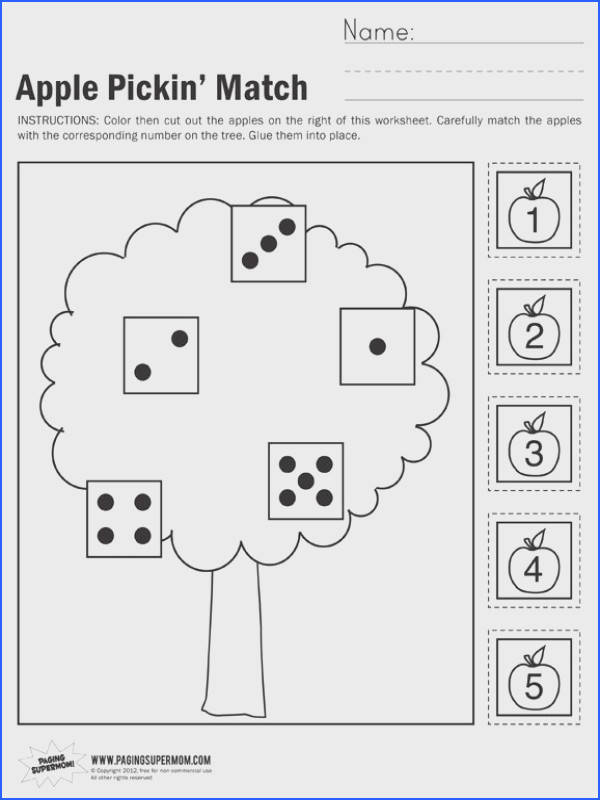 Apple Pickin Math Worksheet