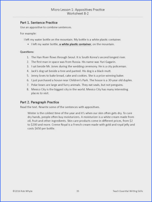 Appositive Worksheets mon Worksheets Appositives Worksheet Appositive Phrases Source · Worksheet Appositive Worksheet Luizah Worksheet And
