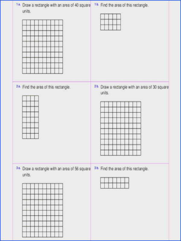 worksheets rectangles squares maths find rectangle a part of under Math Worksheet area and perimeter worksheets rectangles squares math irregular shapes