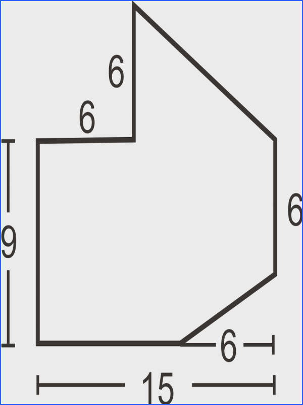 Divide the figure into a triangle and a rectangle with a small rectangle cut out of the lower right hand corner