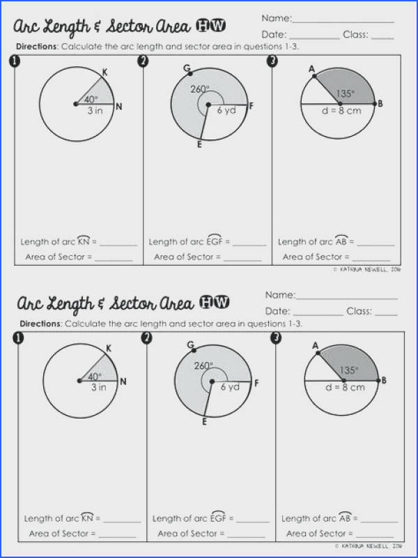 area of sector worksheet to her with worksheets cool 76 arc length and sector area worksheet answers