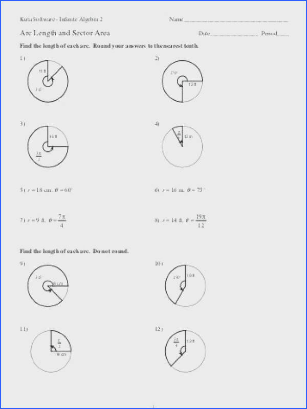 area of sector worksheet for areas of sectors and lengths of arcs lesson by awesome area area of sector worksheet