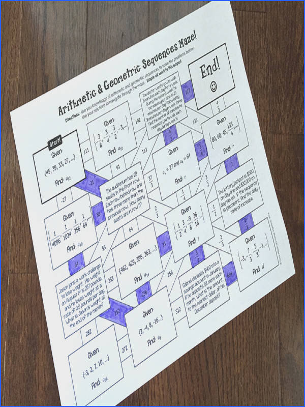 Arithmetic Sequences Algebra TEAM CHALLENGE task cards