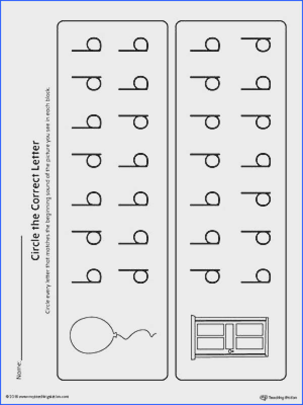 b d Letter Reversal Match Beginning Sound Worksheet is a printable activity for your students to