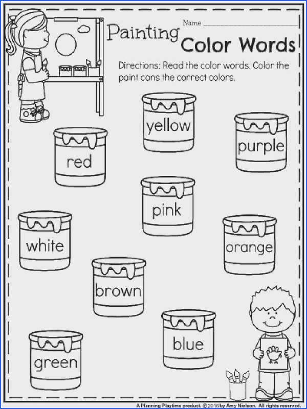Free Printable Kindergarten Worksheets | Mychaume.com