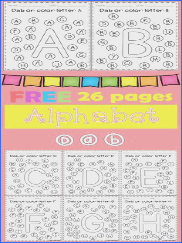 FREE Freebies Alphabet Dap A Z 26 pages For PreK and Kindergarten
