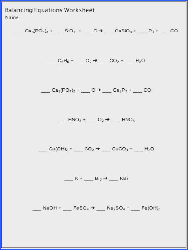 Balancing chemical equations worksheet maker customizable and printable